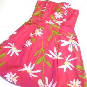 Lilly Pulitzer Dress Hotty Pink Twirlers Blossom 2